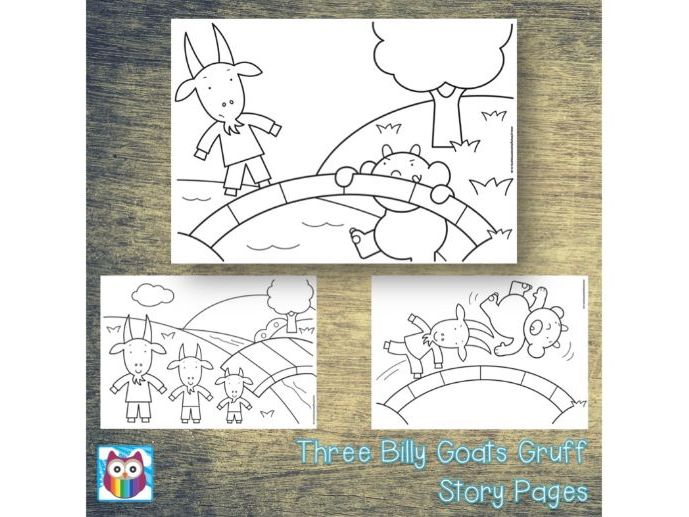 Three Billy Goats Gruff Story Pages