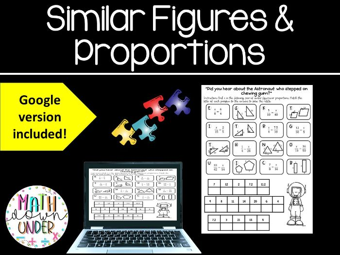 Similar Figures & Proportions Puzzle Activity - PDF & Distance Learning