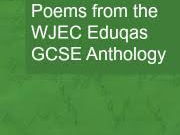 Eduqas Poetry anthology: detailed comparative lessons