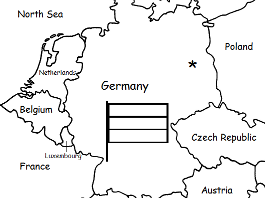 GERMANY - Printable handouts with map and flag