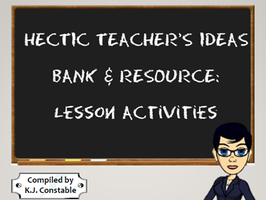 THe Hectic Teacher's Ideas Bank and Resource