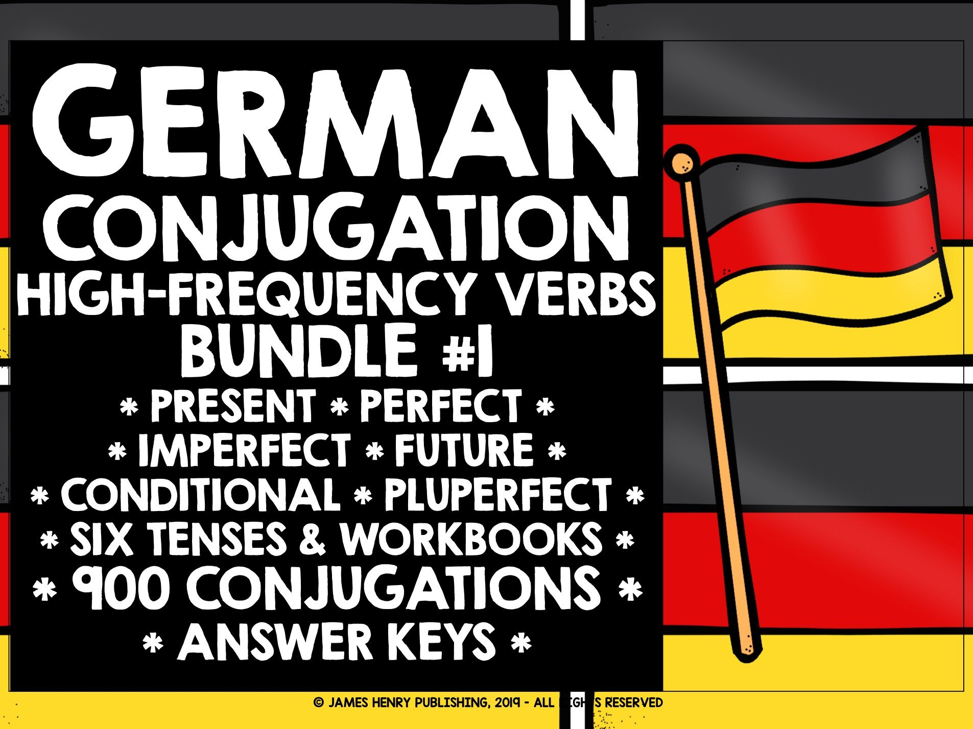GERMAN HIGH-FREQUENCY VERBS CONJUGATION BUNDLE #1