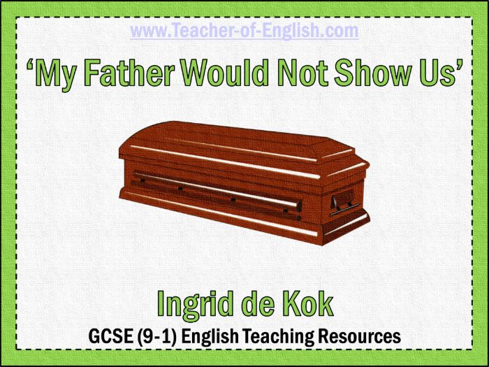 My Father Would Not Show Us (PowerPoint and worksheets)