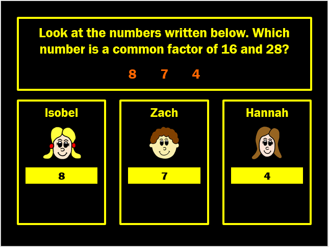 Common Factors Powerpoint Game by Arithmetickx