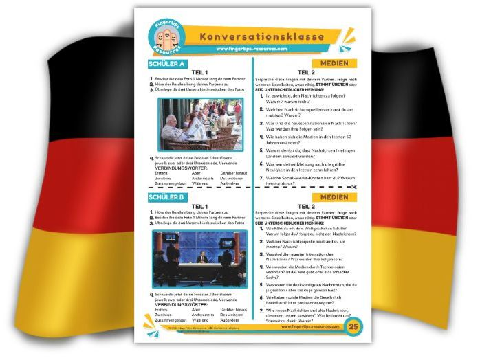 Medien - German Speaking Activity