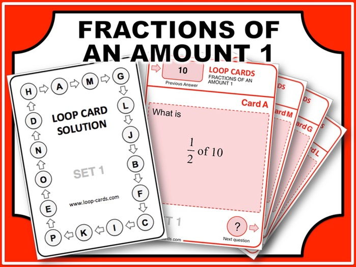 Loop Card Races (Fractions of an Amount 1)