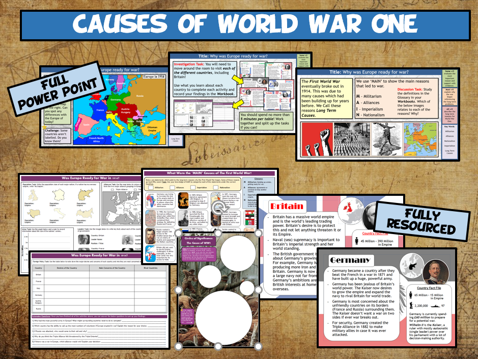 WW1 L1 - Causes of World War One. Was Europe Ready for War?