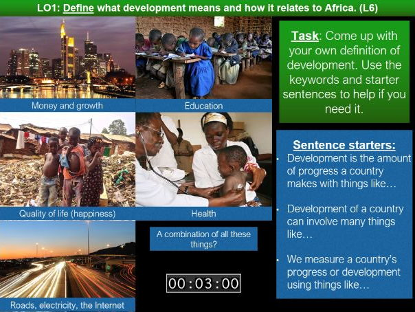 Africa SOW Lesson Six: Measuring Development in Africa
