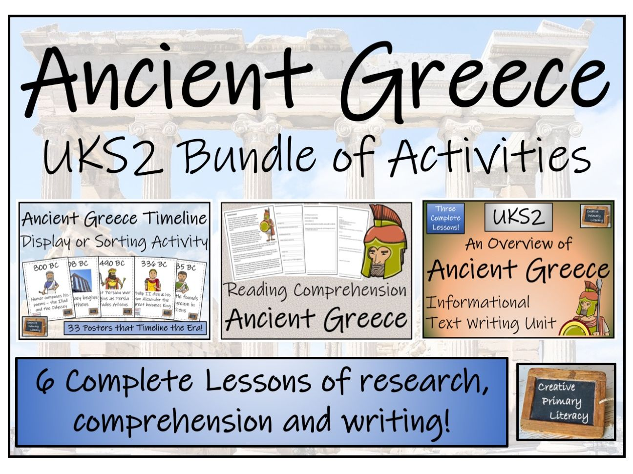UKS2 Ancient Greece - Display, Research, Reading Comprehension & Writing Bundle