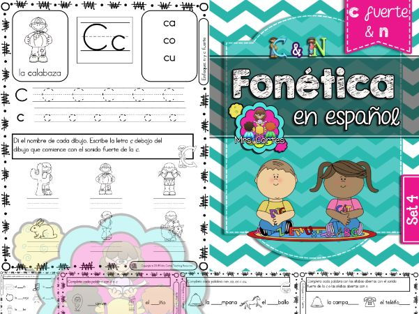 Spanish Phonics Book Set #4: Letras c fuerte & n