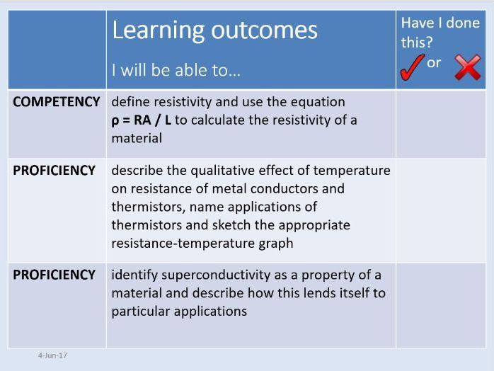 New AQA AS Physics Unit 5 Electricity - 5.1.3 Resistivity (Lesson + required practical)