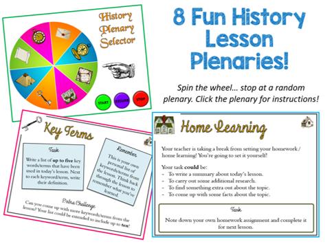 Plenary Wheel (History Lesson Version) NEVER plan a PLENARY again!!