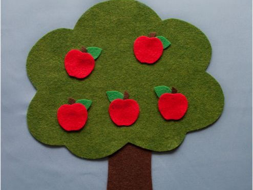 Farmer Brown has Five Red Apples Felt Board Set Digital Pattern
