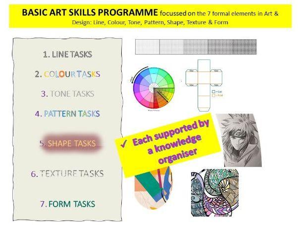 Art & Design Elements Work pack - for KS2, 3 or 4