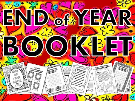 End of Year Booklet 2017 – term, book, memory, wordsearch, crossword, quiz, worksheet, 2016