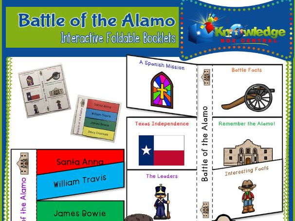 Battle of the Alamo Interactive Foldable Booklets