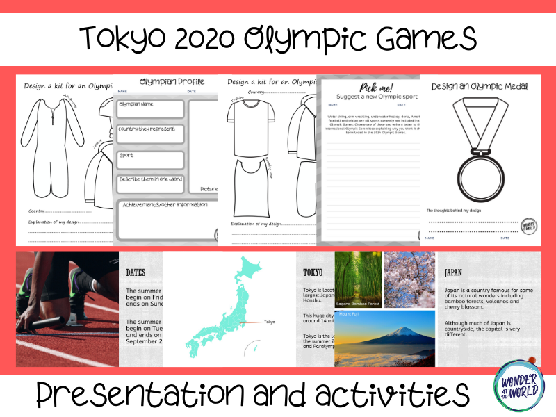 Tokyo 2020 summer Olympics PowerPoint and activities