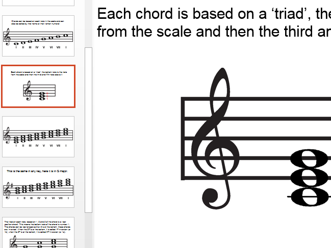 Chords - Root position and basic inversions - lesson bundle