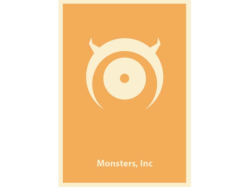 Monsters Inc. - Illustrated Film Poster