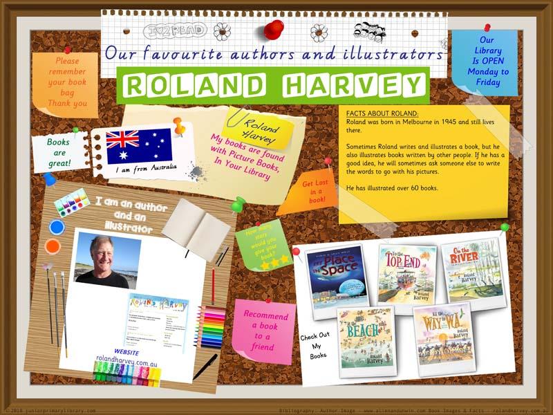 Library Poster - Roland Harvey Australian Children's Author Illustrator