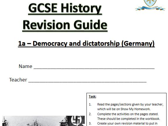 AQA GCSE History (9-1) Germany revision workbook