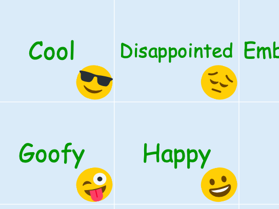 How do you feel today? Emotion Feeling Emoji Matching & Memory Card Game PYP
