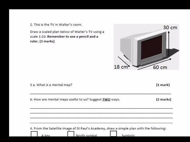 Year 7 Map and Mapping SOW 2017 18) End of Unit Test SEN WITH ANSWERS
