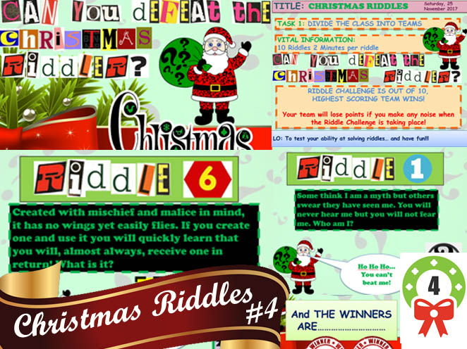CHRISTMAS RIDDLES #4 AWESOME
