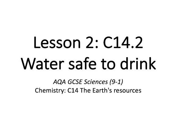 C14.2 Water safe to drink