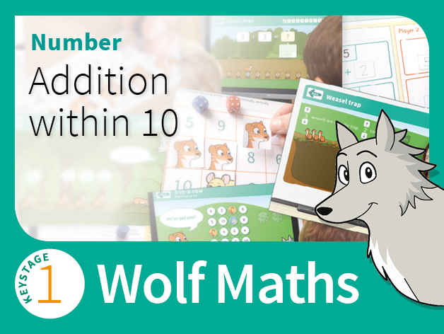 KS1 Number - Addition within 10 - Wolf Maths 3 (Games Pack)