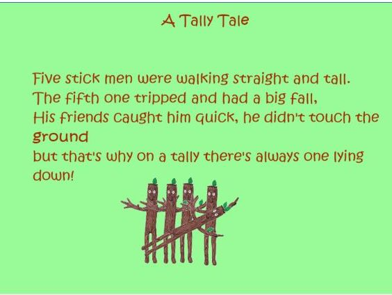 An Introduction to Tally Marks - A rhyme and resource to support the teaching of tally marks.