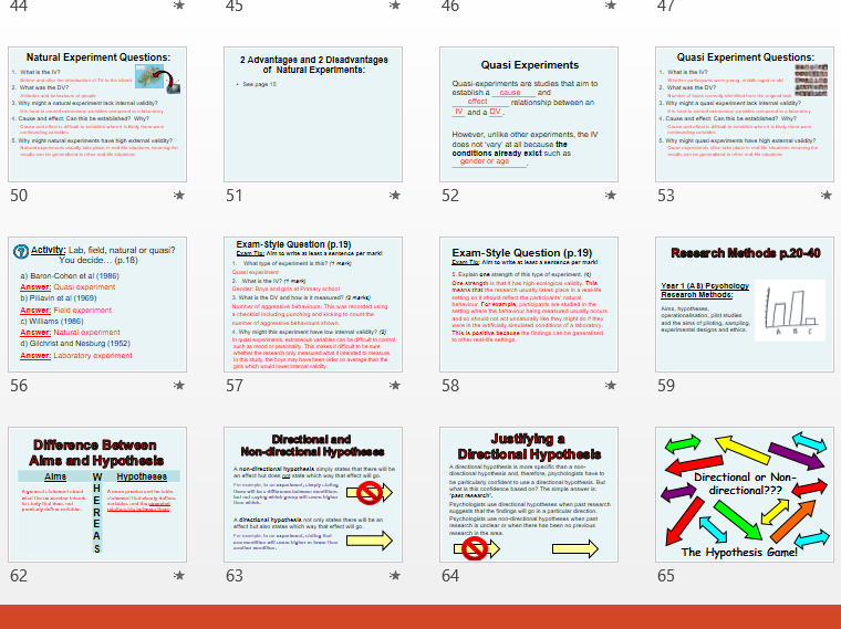 Research Methods (AS/Year 1) PowerPoint to accompany topic booklet