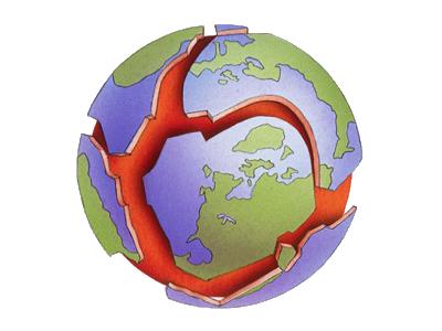 Plate tectonics jigsaw map