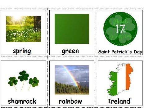 Saint Patrick`s Day Cards for Autism, Pecs