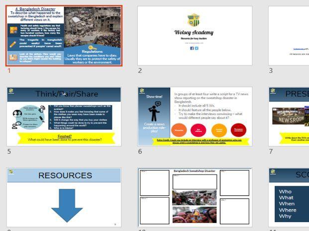4. Sweat Shop Disaster Bangladesh - Global Fashion - Wolsey Academy