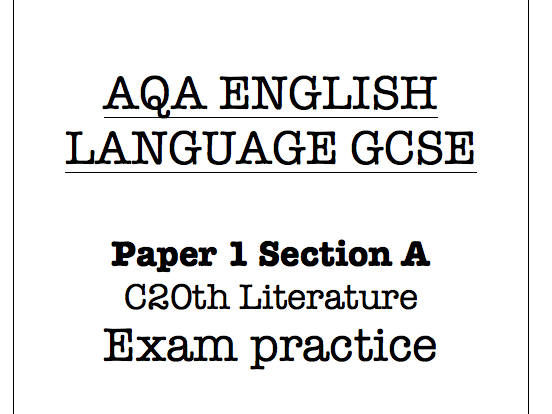 Eduquas English Lang GCSE C20th fiction extracts & exam style qs with MS