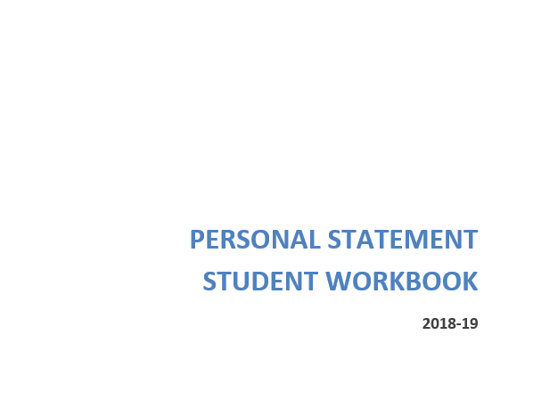Personal Statement Workbook