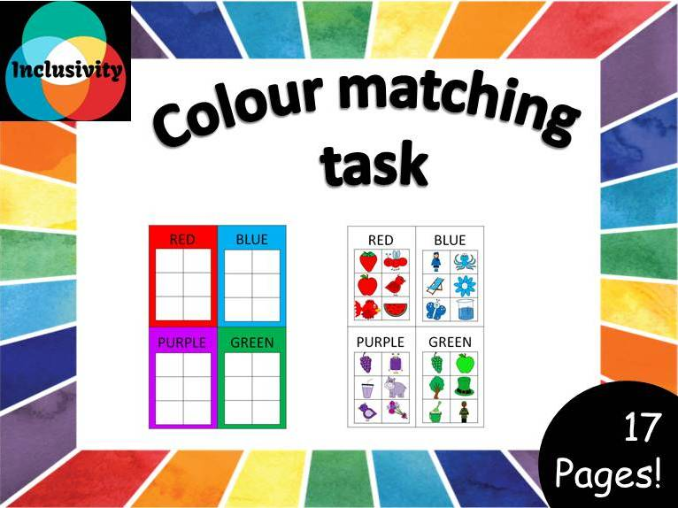 Colour/color matching tasks