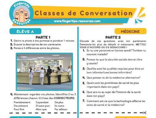 La médecine - French Conversation Activity