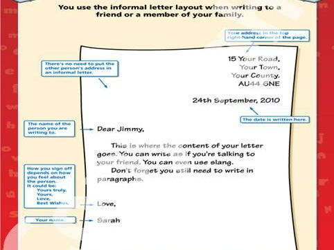 informal letter examples ks2 by almondo_24 teaching resources tes