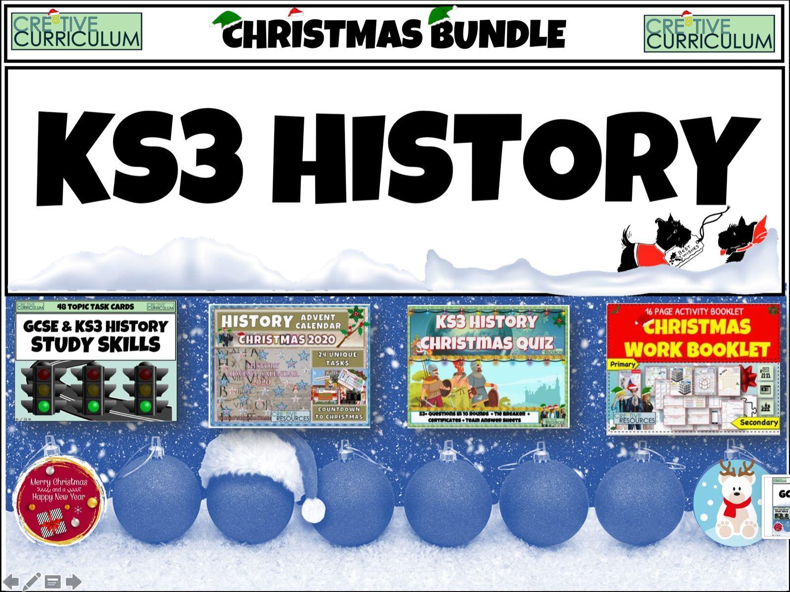 History KS3 Christmas Bundle