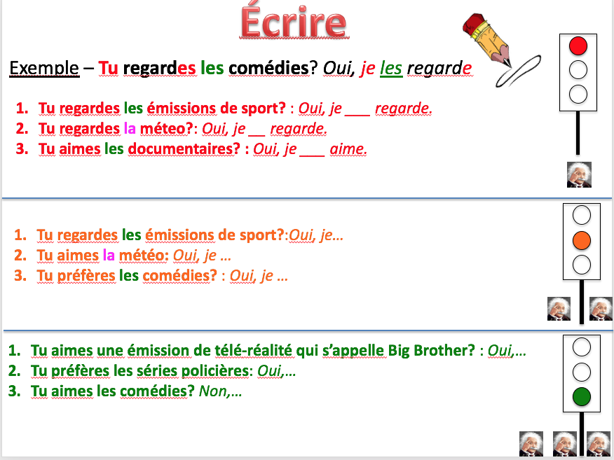 TV and direct object pronouns - Expo 3 Module 1 - Differentiated lesson