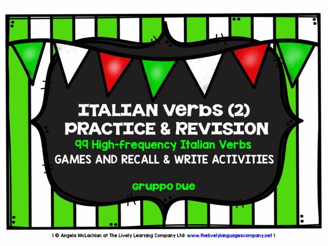 ITALIAN VERBS (2) - 99 VERBS - GAMES & ACTIVITIES