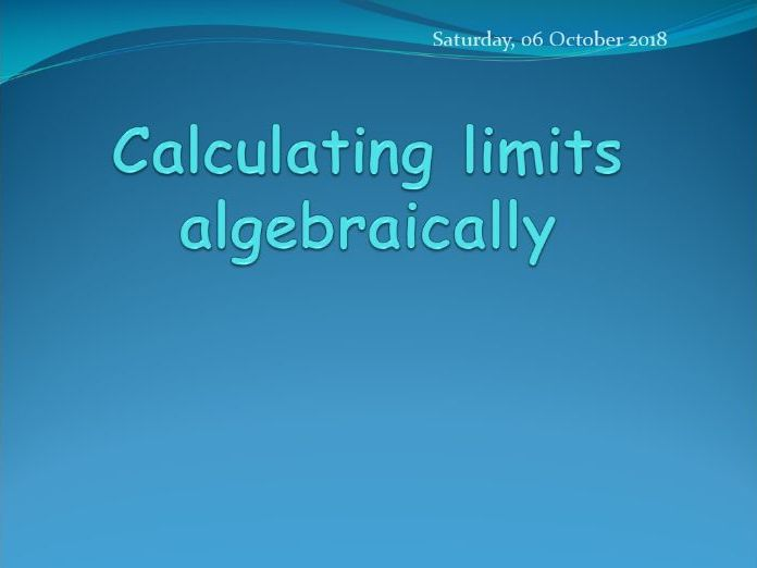 Finding limits algebraically