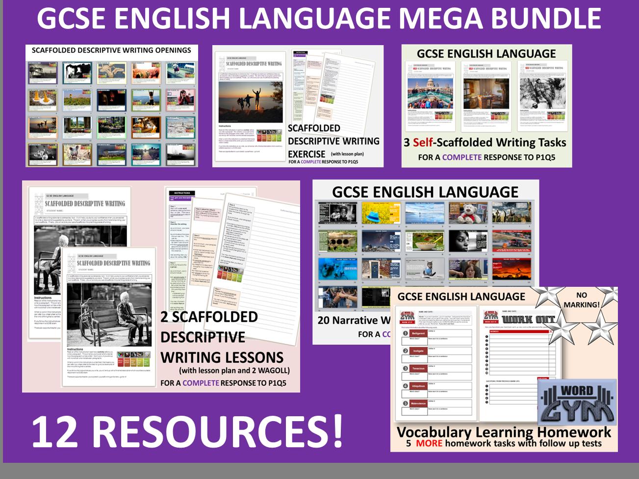 GCSE English Grade 9-1 Paper 1 Resources MEGA BUNDLE