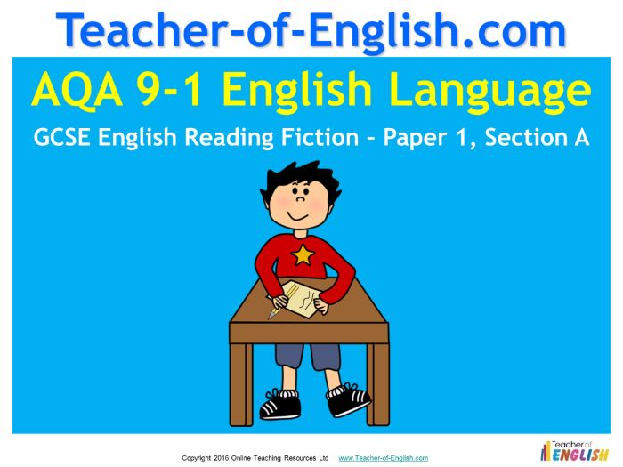 AQA Reading Fiction 3 - Paper 1 Section A (9-1)