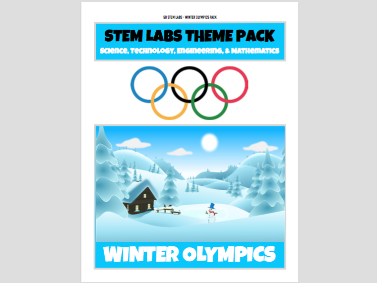 STEM Labs Pack - Winter Olympics Projects Pack of 10 Sports-Themed STEM Projects