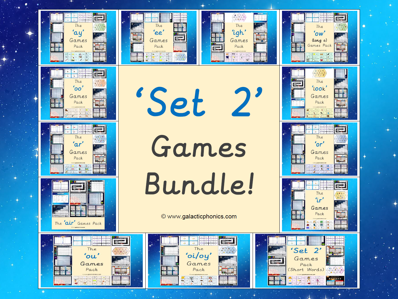 The Set 2 Phonics Games Bundle (Read, Write, Inc. Set 2 Sounds)