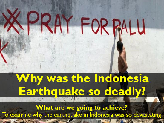 Indonesia Palu Earthquake/Tsunami (September 2018) Lesson (Geography in the News)