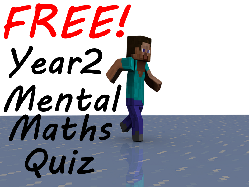FREE Year 2 Week 1 Minecraft Mental Maths Test
